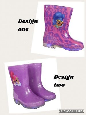 Official Shimmer and shine flashing wellies boots , sizes 7-12