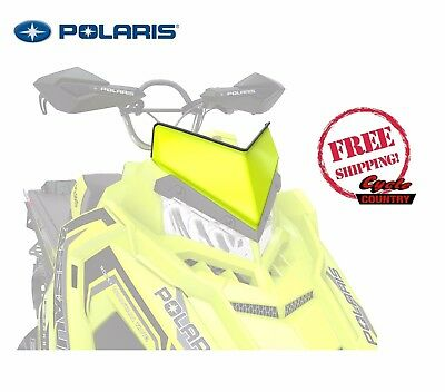"Polaris Axys Snowmobile Low Profile 7"" Windshield Lime Squeeze Rmk Pro Rush Sks"