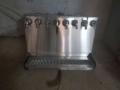 Stainless Steel 8 Head Beer Tower with regulators and floats