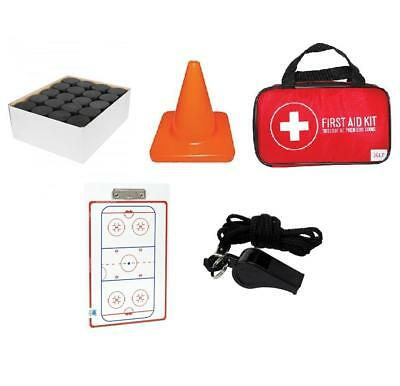 Ice Hockey Coach Starter Package Coaches Kit Pucks Pylons First Aid Dry Erase