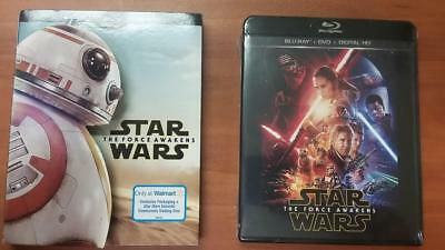 Star Wars The Force Awakens Walmart Limited Edition Blu-Ray+Dvd+Digital Hd Bb-8