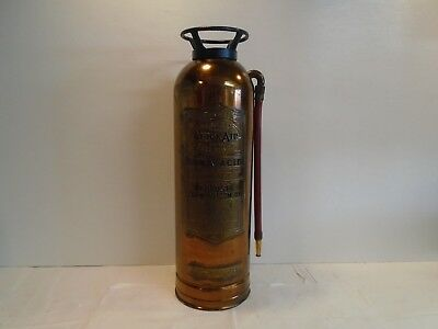 Vintage General Quick Aid Fire Guard TS-15 Fire Extinguisher Soda Brass Copper