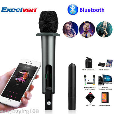 10CH Wireless/Wired Microphone Speaker Bluetooth KTV Karaoke For iPhone Samsung