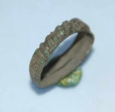 Ancient Old Viking Bronze Ring (MA35)
