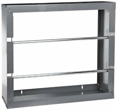 """Durham 384-95 Gray Cold-Rolled Steel Wire Spool Rack with 2 Rods, 26-1/8"""""""