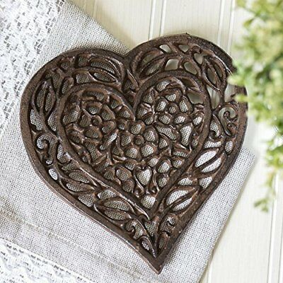 Cast Iron Heart Trivet | Decorative Cast Iron Trivet For Kitchen Or Dining