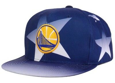 brand new 1109a 1444a Golden State Warriors Mitchell   Ness NBA Award Ceremony Snapback Hat Blue