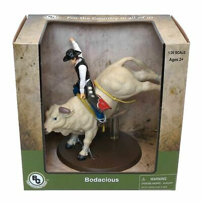 Big Country Toys Bodacious The Bucking Rodeo Bull with Rider 1:20 Scale 448