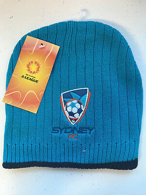 Sydney FC Sky Blues A League Rib Knit Beanie Style 2!