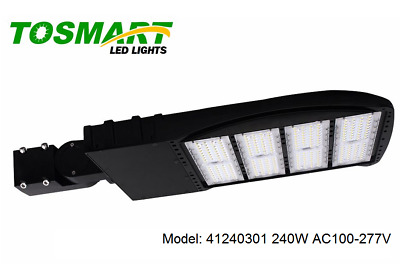 LED Street Light 240W Parking Lot Pole Parking Area Light, Industrial Efficient