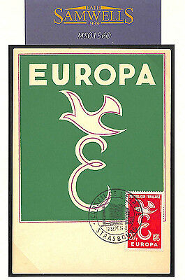 MS1560 1958 France Europa FDI maxi card/Council of Europe Strasbourg relevant