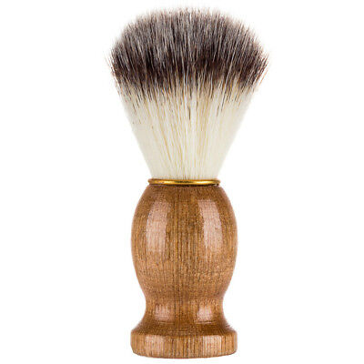 1x Men Shaving Bear Brush Best Badger Hair Wood Handle Barber Tool Shaving Brush