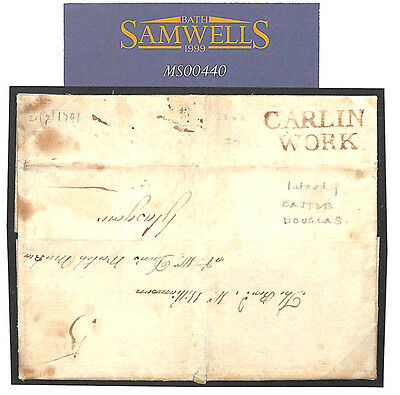 MS440 1791 GB Scotland *CARLIN/WORK*(Castle Douglas) Kirkcudbrights Scarce Cover