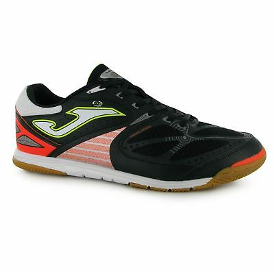 Joma Lozana Indoor Trainers Mens Bk/Wh/Or Football Soccer Fusbal Shoes Sneakers