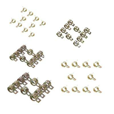 50pcs Spring Clip Fuel Oil Water Air Tube Pipe Clamp Fastener 6/9/10/12/14mm