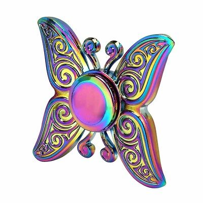 EDC Fidget Hand Spinner Rainbow Alloy Toys Butterfly Focus ADHD Bearing Stress