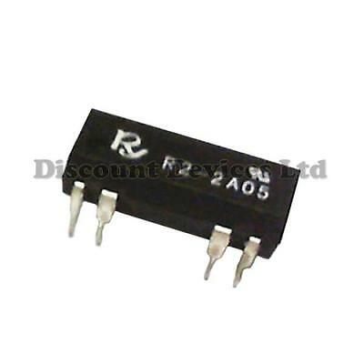 R2-2A 5V DC Reed Relay 2PST 0.5A 125VAC 2 Circuits/ DIP Packaking