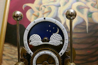 Grasshopper Skeleton Clock Bicolor Moonfase Inspired By John Harrison 1714