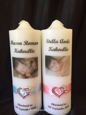 Personalised Candle Wedding Anniversary Christening Baptism Naming Memorial - A1