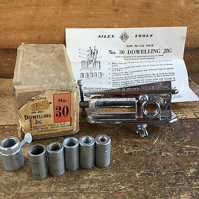 Vintage SILEX #30 DOWELLING JIG Box Australia Old Antique Marking Hand Tool #57