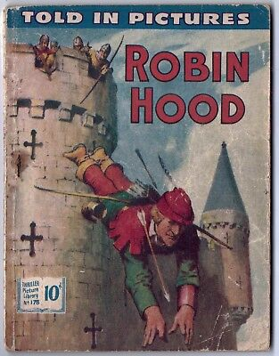 "Dated 1957. ""ROBIN HOOD"". Vintage Thriller Picture Library comic # 178."
