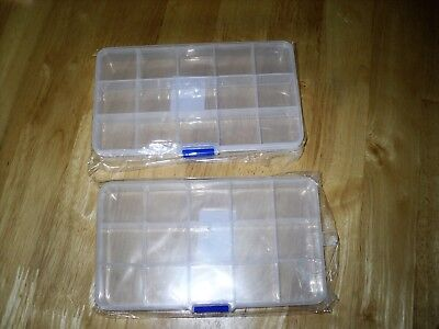Craft Clearout - 15 COMPARTMENT PLASTIC STORAGE BOXES