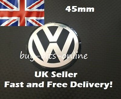 VW 45mm Emblem Sticker Decal. 45mm Steering Wheel Badge. VW Golf Polo Passat TDI