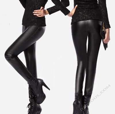 sexy glanz leggings schwarz stretch hose leggins high. Black Bedroom Furniture Sets. Home Design Ideas