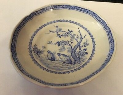 Vintage Furnivals Blue And White Quail Patt Cup & Saucer