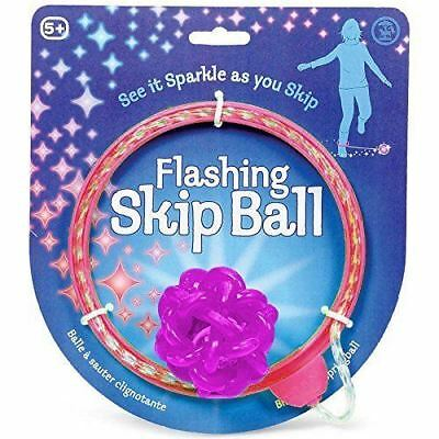 Tobal Flashing Skip Ball Ankle Skip It Jumping Toy for Children New ( Pink )