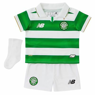 New Balance Celtic FC Home Kit 2016 2017 Infants Football Soccer Jersey Shorts