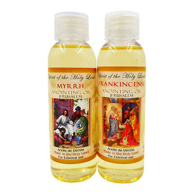 Blessed Jerusalem Frankincense and Myrrh Anointing Oil From Israel HolyLand 60Ml