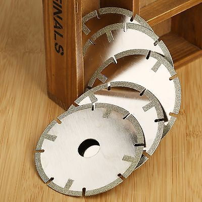 5Pc Diamond Coated Segmented Saw Blade Cut Off Grit 60 Coarse Cutting Wheel Disc