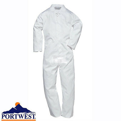 Portwest White Food Industry Hygiene Boilersuit 2201 Overall Coverall