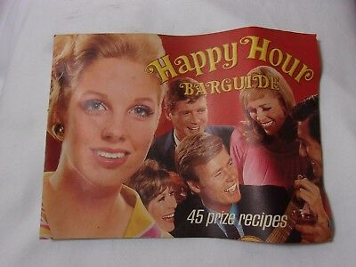 1960's 70's Happy Hour Bar Guide Mix Drink Recipes Vtg. Booklet