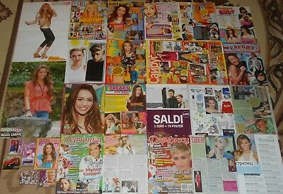 MILEY CYRUS - Magazine Posters Clippings BIG Collection # 1