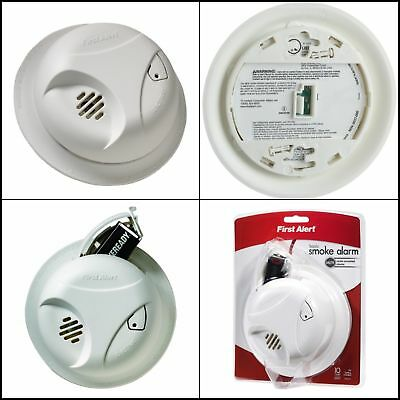 Indoor Plastic Wall Mount Smoke Alarm Detector Battery Powered Silence Button