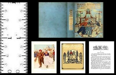 1:12 Scale Miniature Book Hans Brinker Illustrated Dollhouse Scale