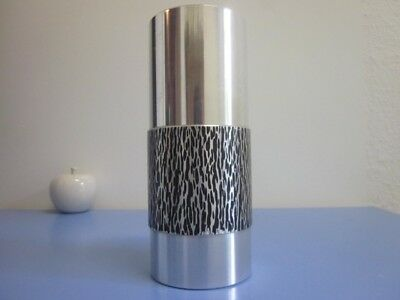 Edelstahl Vase 70er  Metall Design Stainless Steel Metallvase 70s modernist