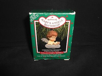 Hallmark Mary's Angels Christmas Ornament 1988 Buttercup 1st in Series In Box