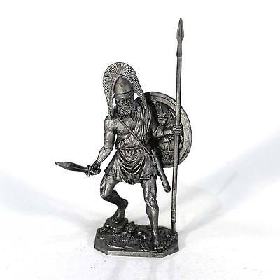 """Tin toy metal soldier """"Spartan commander, 5th cent. BC"""" 1/32 (54mm) #A133"""