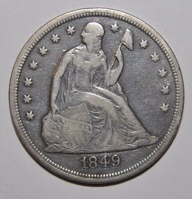 1849 Seated Liberty Silver Dollar