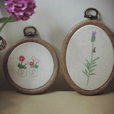 Wood Embroidery Cross Stitch Ring Hoop Frame Sewing Craft Circle Small Large