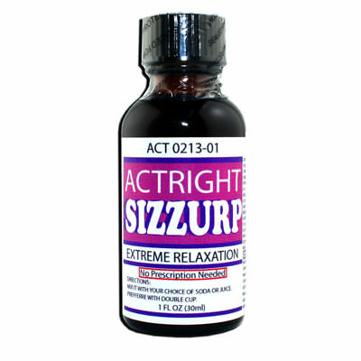 SALE!! Actright Sizzurp 1fl oz extreme relaxation / purple potion -SAME DAY SHIP