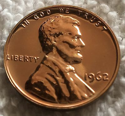 1962 Proof Lincoln Cent Beautiful Deep Mirror Finish From U.s. Mint Set Wow Look