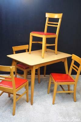 HALE Original MID CENTURY MODERN Kitchen Dinette Set Table and 4 Chairs Sturdy