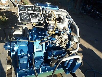 Brand New Marinised Diesel Boat Engine -Complete With Gearbox Pumps Gauges Etc