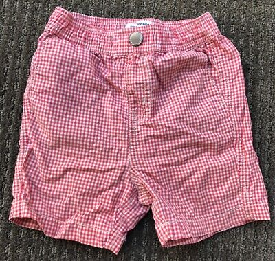 Country Road Baby Toddler Boys Red & White Check Shorts Size 2, 18-24 Months