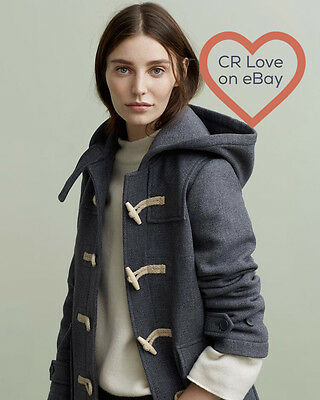 Cr Love Sz S (10 - 12) New! Country Road Textured Duffle Jacket Coat Grey