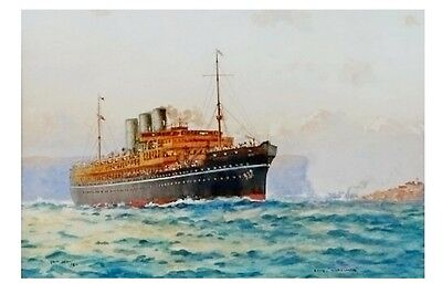 NARKUNDA at Sydney P&O Line J Allcot Art  Modern Digital Postcard